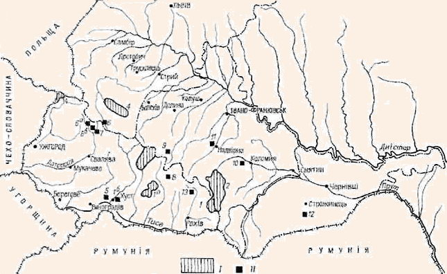 Заповідні території Українських Карпат.