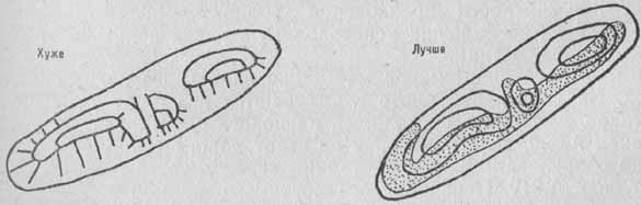 Разные способы изображения каменистых поверхностей