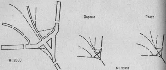 Изображение сложного перекрестка