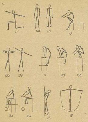 Таблица гимнастических упражнений альпиниста