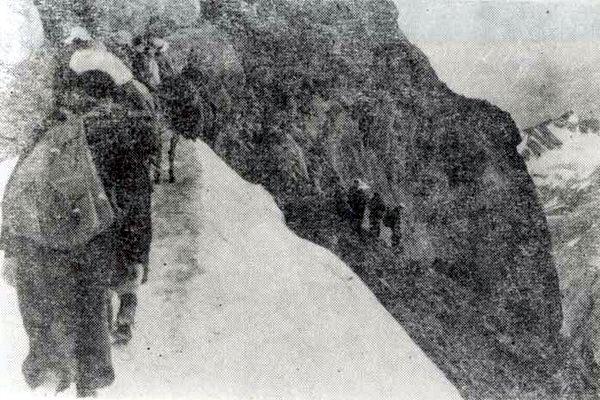 Спуск с перевала в Сванетию