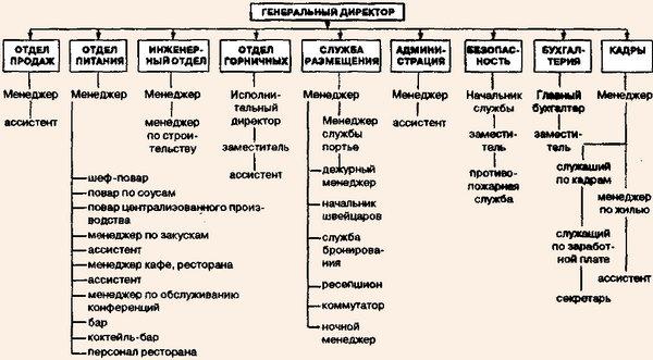 Организационная схема крупного