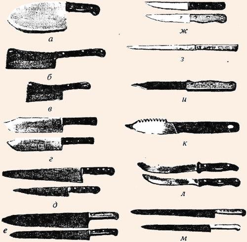Ножи мясо- и рыборазделочные