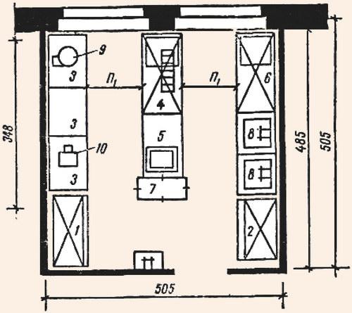 Схема 15. План холодного цеха