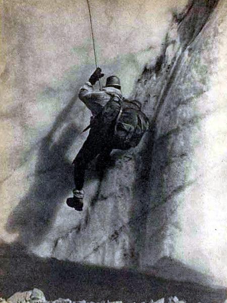 На леднике Бивачный, Памир