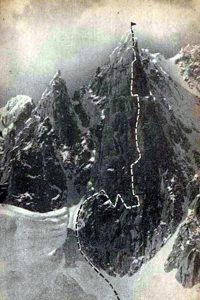 Французские Альпы. Маршрут на вершину Гран-Капуцин, пройденный ленинградскими альпинистами в 1974 году