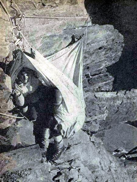 Сидячая ночевка на стене пика Арнавад