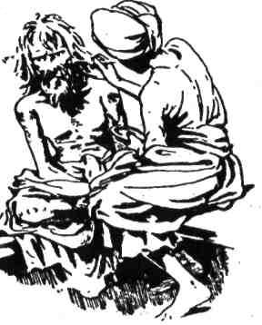 Кім переодягнув чоловіка за жебрака за допомогою мішанини муки й попелу