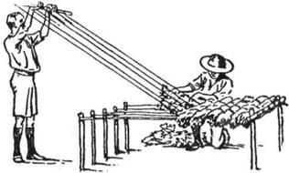 На таборовому ткацькому станку легко уткати вигідні матраци з бадилля, папороті, вересу, соломи чи трави
