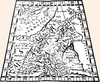 Карта європи сарматії за помпонієм