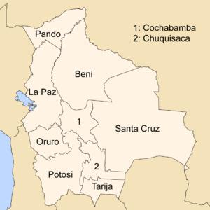 Адміністративний поділ Болівії