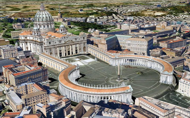 Площадь Ватикана и Собор Святого Петра