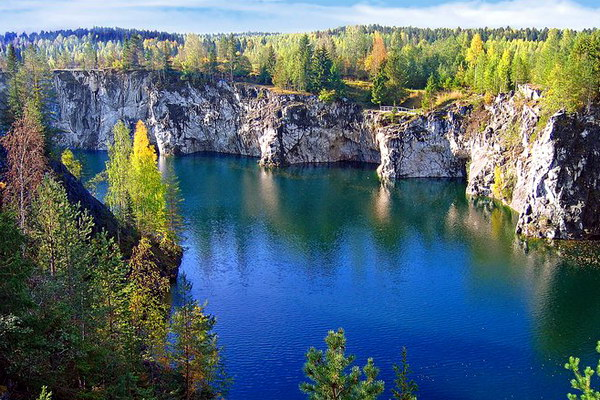 Карелия, Мраморное озеро