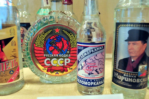 Экспозиция в музее истории водки
