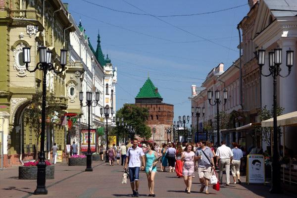 Покровская улица в Нижнем Новгороде