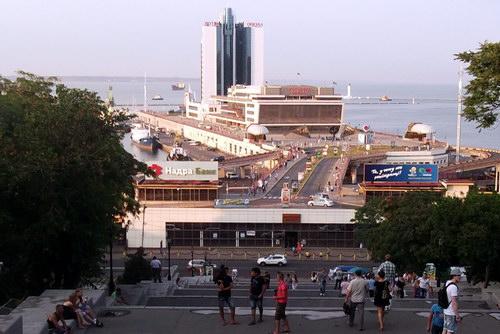 Потемкинская лестница, вид на море