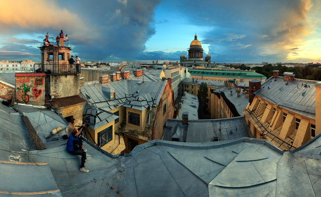 крышы Санкт-Петербурга