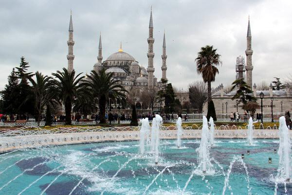 Голубая мечеть, район Султанахмет