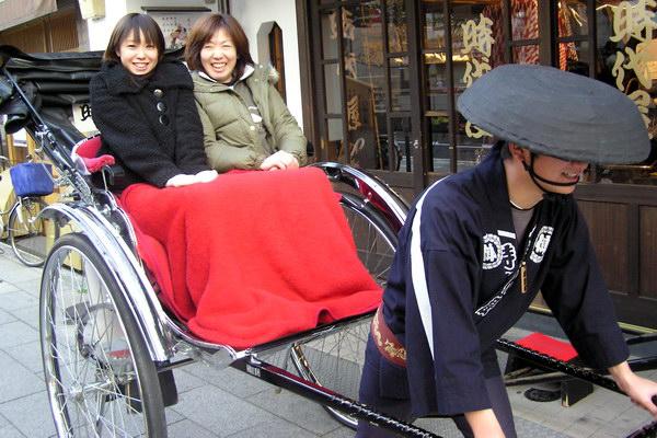 рикши в Японии