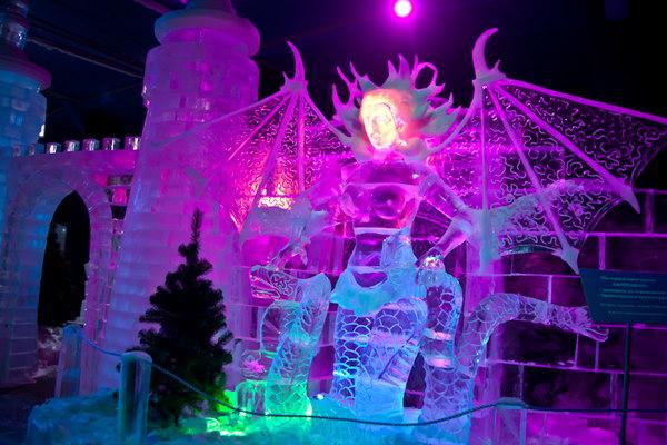 В прошлые годы выставка ледяной скульптуры уже проводилась в Сокольниках