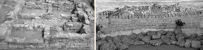 Слева: остатки крепости; справа: так мог выглядеть античный Евпаторий