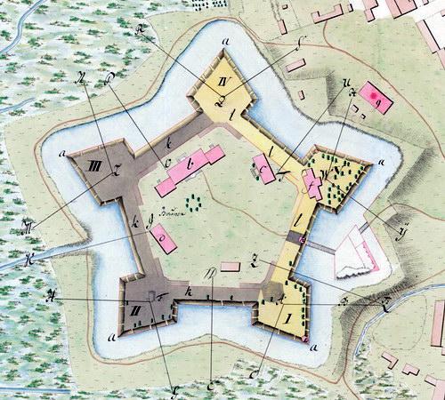 Фрагмент плана Бродовской цитадели, 1780 год.