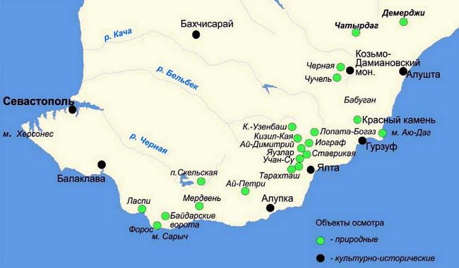 Объекты экскурсионного показа использовавшиеся в деятельности КГК