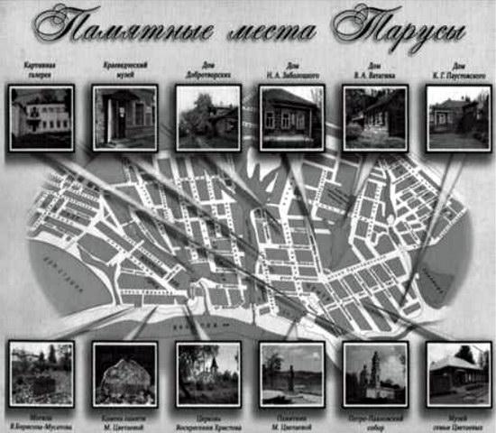 Памятные места Тарусы