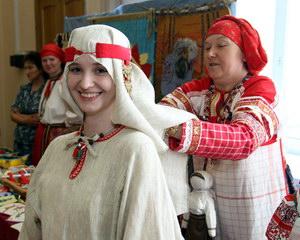 традиционная женская одежда вятичей