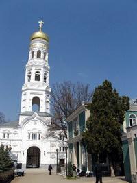 Одесский Свято-Успенский мужской монастырь. Вид на колокольню