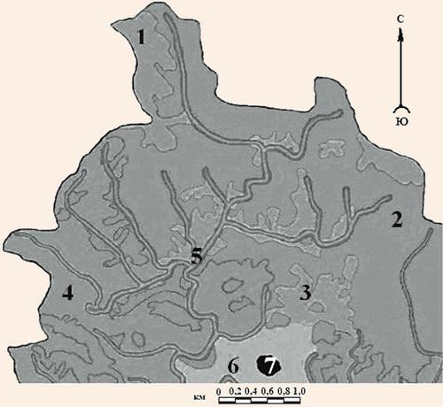 Фрагмент карты антропогенной трансформации ландшафтов бассейна р. Бащелак