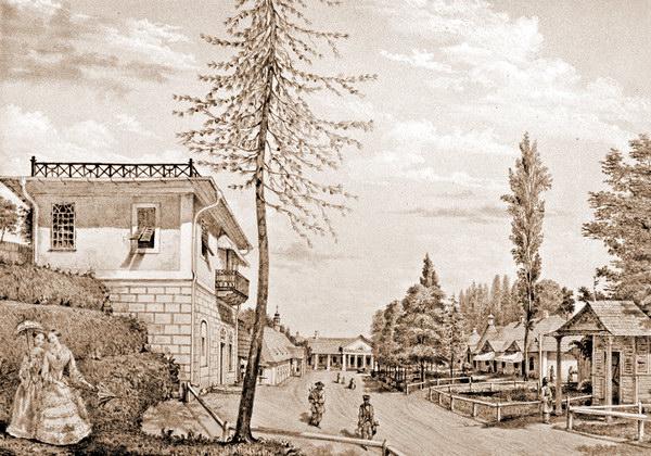 Трускавец. Вид от источника Фердинанд