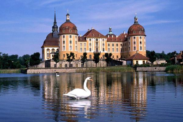 Замок Морицбург в Германии