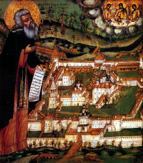 Икона «Преподобный Макарий Желтоводский», 1694 г., Государственный исторический музей