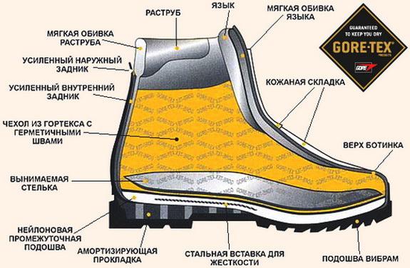 строение ботинок