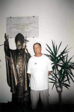 Бронзовая скульптура Римскому Папе Яну Павлу ІІ