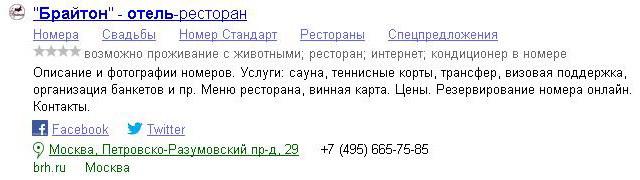 Пример правильного оформления сайта в поисковой выдаче