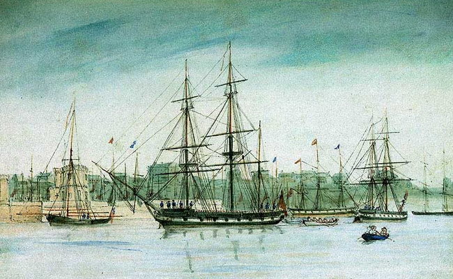 Корабль «Бигль», на котором Дарвин совершил путешествие
