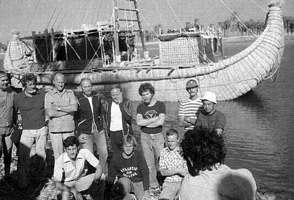 Международный экипаж камышовой лодки «Тигрис»