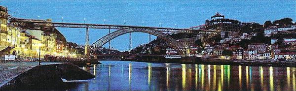 Мост Луиса Первого в Порту построен Эйфелем, как и парижская башня