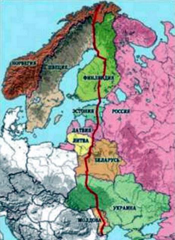 Геодезична дуга Струве на території Європи
