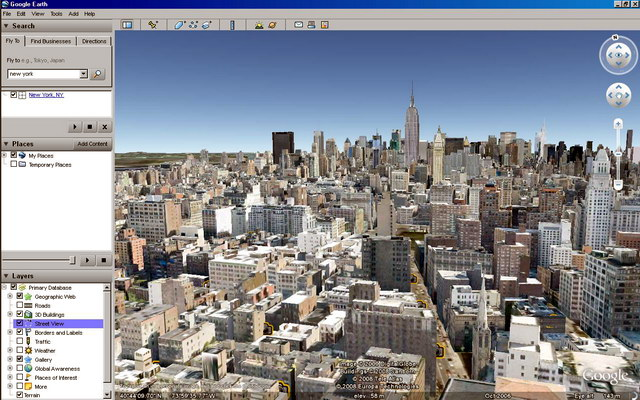 віртуальний тур в Google Earth