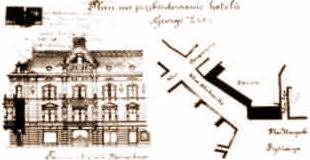 нереалізований проект реконструкції фасаду від 1888 року архітектора Альфреда Каменобродського