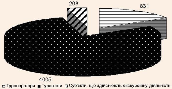 суб'єкти туристичної діяльності у 2013 році