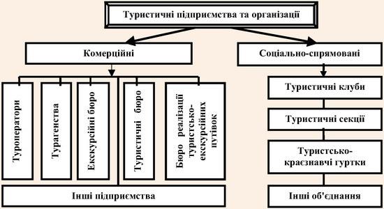 Типізація туристичних підприємств та організацій