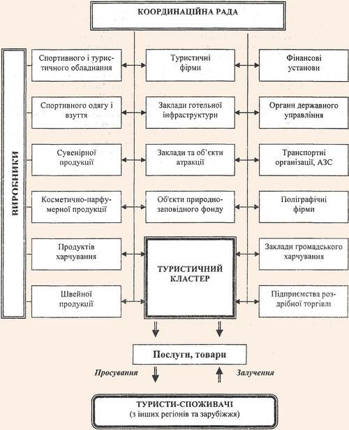 Структурно-функціональна модель туристичного кластеру
