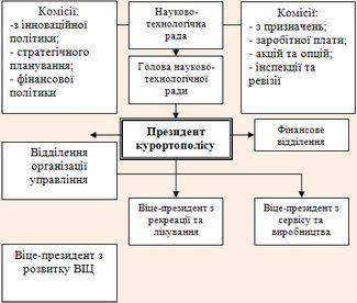 Структура організаційного управління ВІЦ