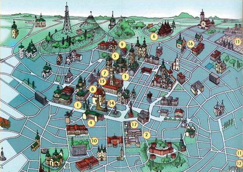 Схема розташування музеїв Львова