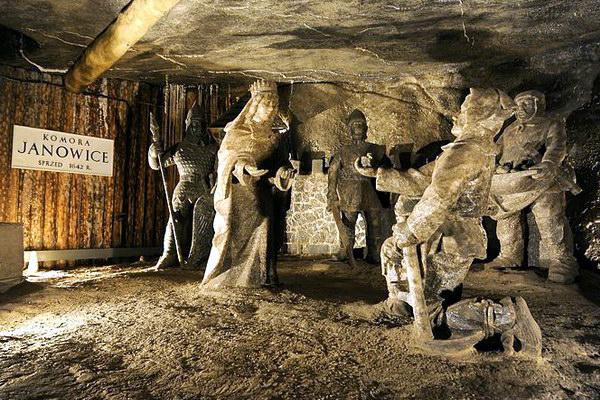 Соляна шахта в місті Величка