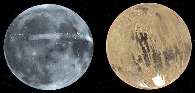 Режими перегляду «Місяць» і «Марс» в Google Планета Земля